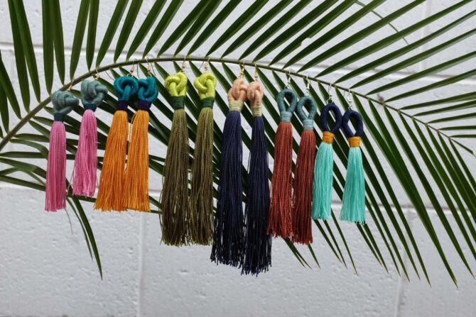 Siempre Sololá Handmade Tassel Earrings variety