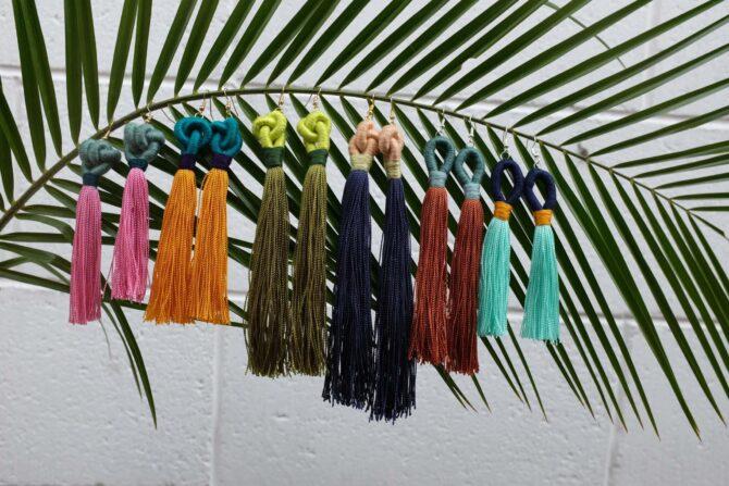 Siempre Sololá Handmade Tassel Earrings variety