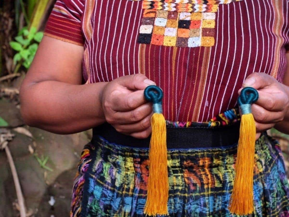 Handmade Guatemalan Tassel Earrings made by Mayan Women